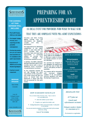 Preparing for an Apprenticeship Audit – Leeds