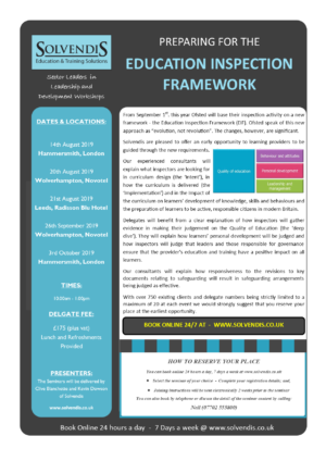 Preparing for the Education Inspection Framework – Wolverhampton